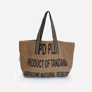 24 Cabas en toile de sac de transport de café.