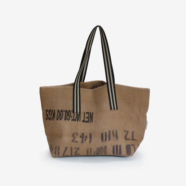 24 dos de Cabas en toile de sac de transport de café . Upcycling et fabrication Française.