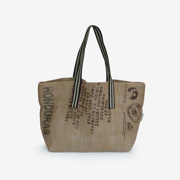 25 Cabas en toile de sac de transport de café.