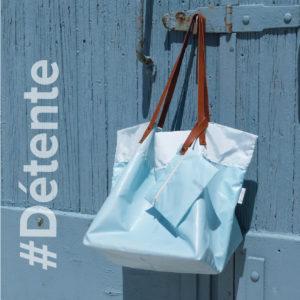 sac cabas en toile d'airbag recyclée.