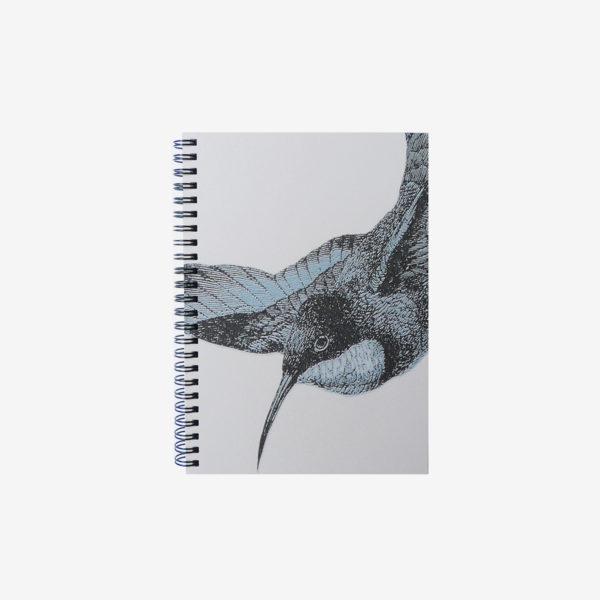 6 carnet en papier peint recyclé oiseau.