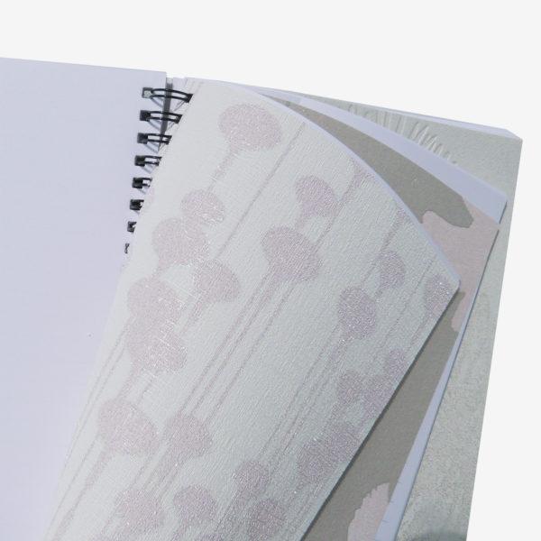 8 Pages intérieures de carnet en papier peint recyclé
