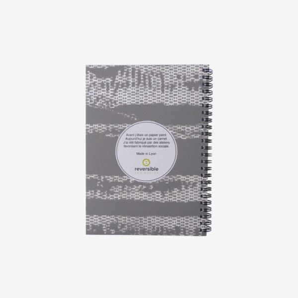 19 Dos de carnet en papier peint recyclé tons gris